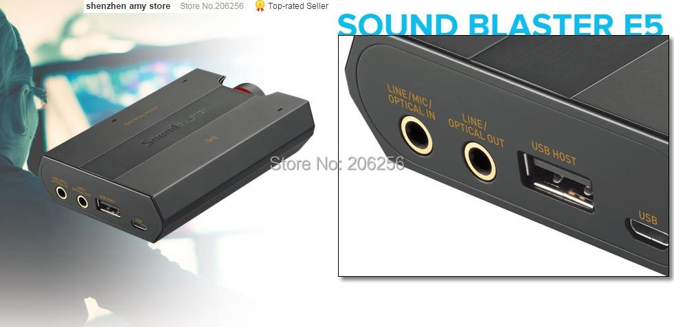 Original Creative Sound Card Blaster E5 Bluetooth wireless