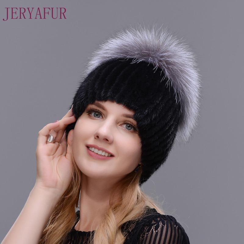 Hot Style Female Mink Fur Cap For