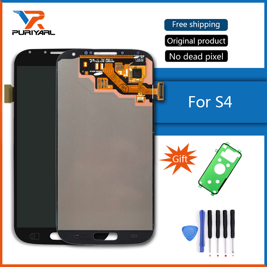 100% Originale Super AMOLED LCD Per Display LCD SAMSUNG Galaxy S4 Gt-I9505 i9500 i9505 i9506 i9515 i337 Touch Screen Digitizer