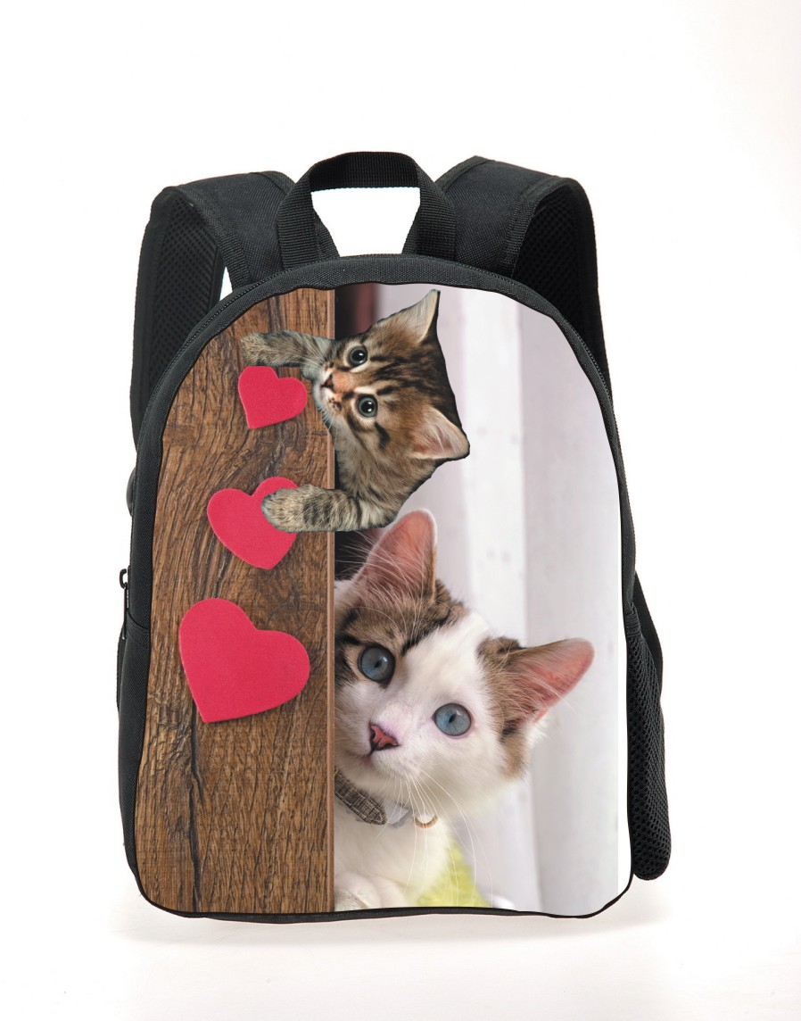 Cute Cat Dog Backpack Golden Retriever Children School Backpacks 3D Cartoon Animal Kids Small Mochila Chid
