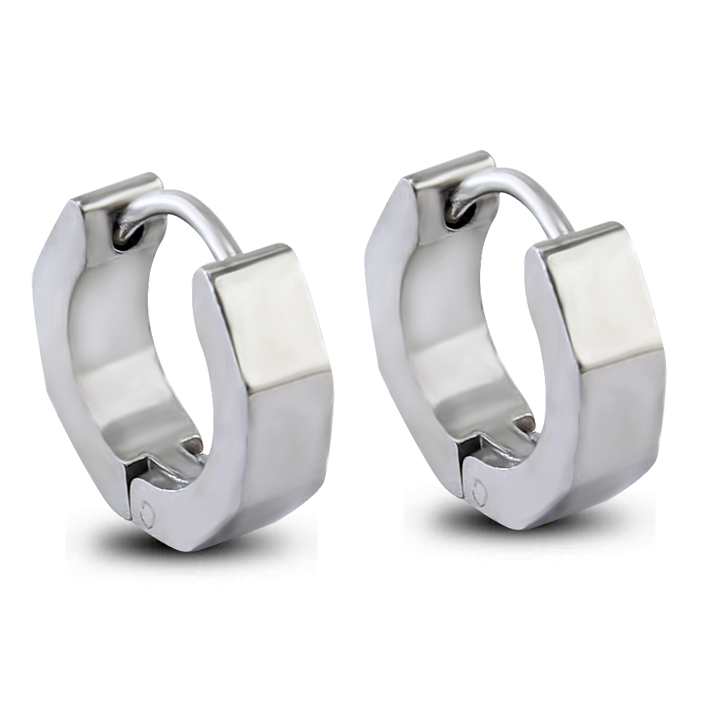 New Stylish 1 Pair Huggie Hoop Earrings For Unisex Hinged Hoop Earrings  Gauge 4*9mm