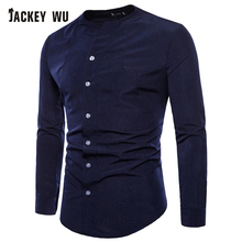 JACKEYWU Brand Casual Shirts Men 2019 Korean Fashion Collarl