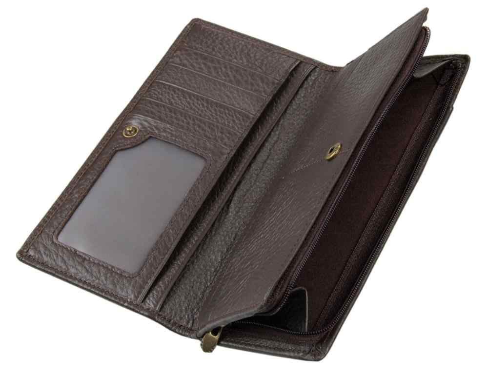 người đàn ông chất lượng cao chính hãng da dài ví thẻ đa bit ví chủ thẻ thương hiệu thiết kế người đàn ông ví