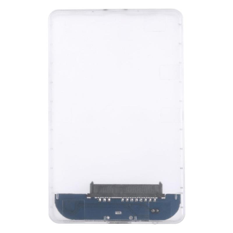ALLOYSEED For 2.5 inch Transparent HDD Case USB3.0 to Sata 3.0 Tool 5 Gbps Support UASP Protocol SATA3.0 Hard Drive Enclosure transparent hdd case type c to usb3 1 2 5 inch hard drive enclosure support uasp protocol type c to sata ssd enclosure