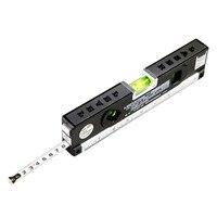 4 In 1 Blister Laser Levels Horizon Vertical Magnetic Measuring Tape Aligner Laser Marking Lines Ruler