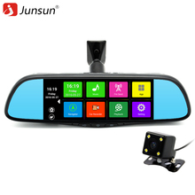 Junsun 7″ Touch Special Car DVR Camera Mirror GPS Bluetooth 16GB Android 4.4 Dual Lens FHD 1080p Video Recorder Dash Cam