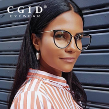 CGID Women Fashion Computer Glasses Anti Blue Rays Blocking Filter Eyewear Fashion Eyeglasses Sleeping Better Round Glasses CT10