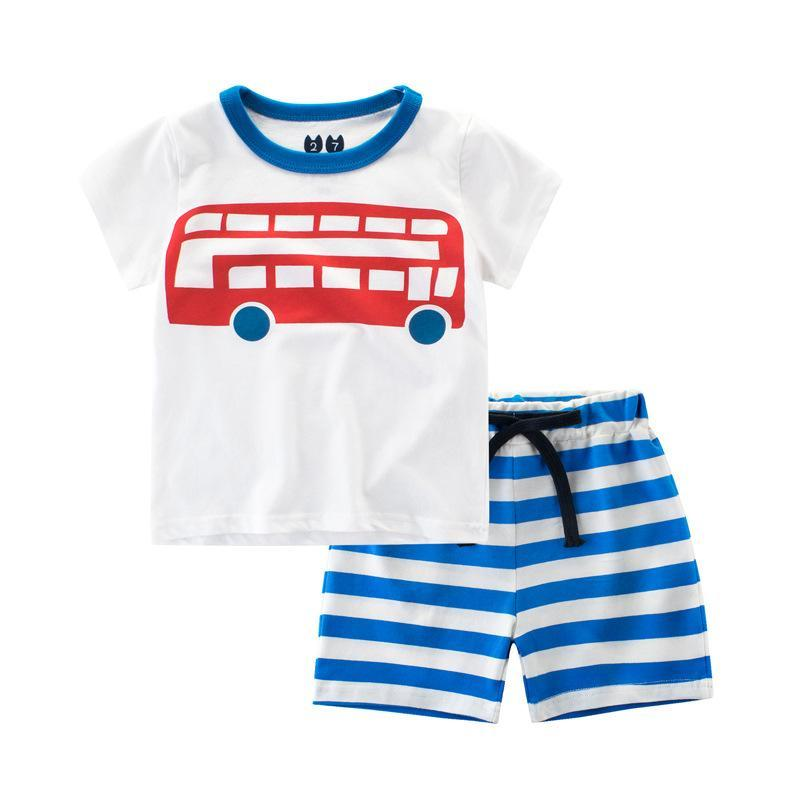 Baby Boys Summer Sets Tops+Pants Children Clothing Short Sleeve Tracksuit for Boys Sport Suits Cartoon Costume For Kids Clothes