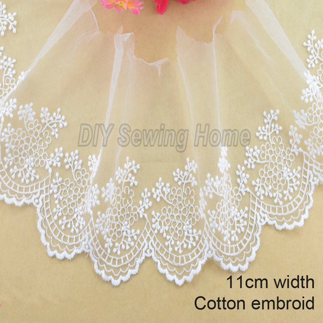 11 cm ancho algodón bordado encaje costura cinta guipur encaje tela africana ajuste urdimbre tejido DIY accesorios de ropa #3215