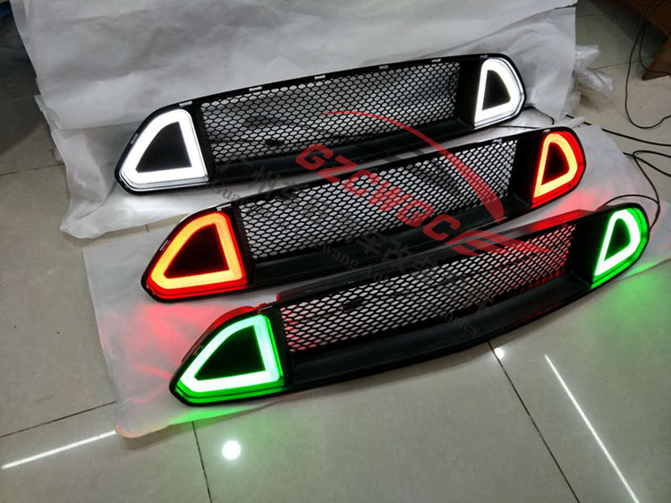 2015 2016 Mustang RTR Shiner Grill ABS LED Grille for Ford Mustang three colour Grille-in Racing ...