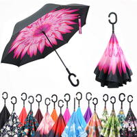 Quality Reverse Umbrella Car Anti Uv Double Layer