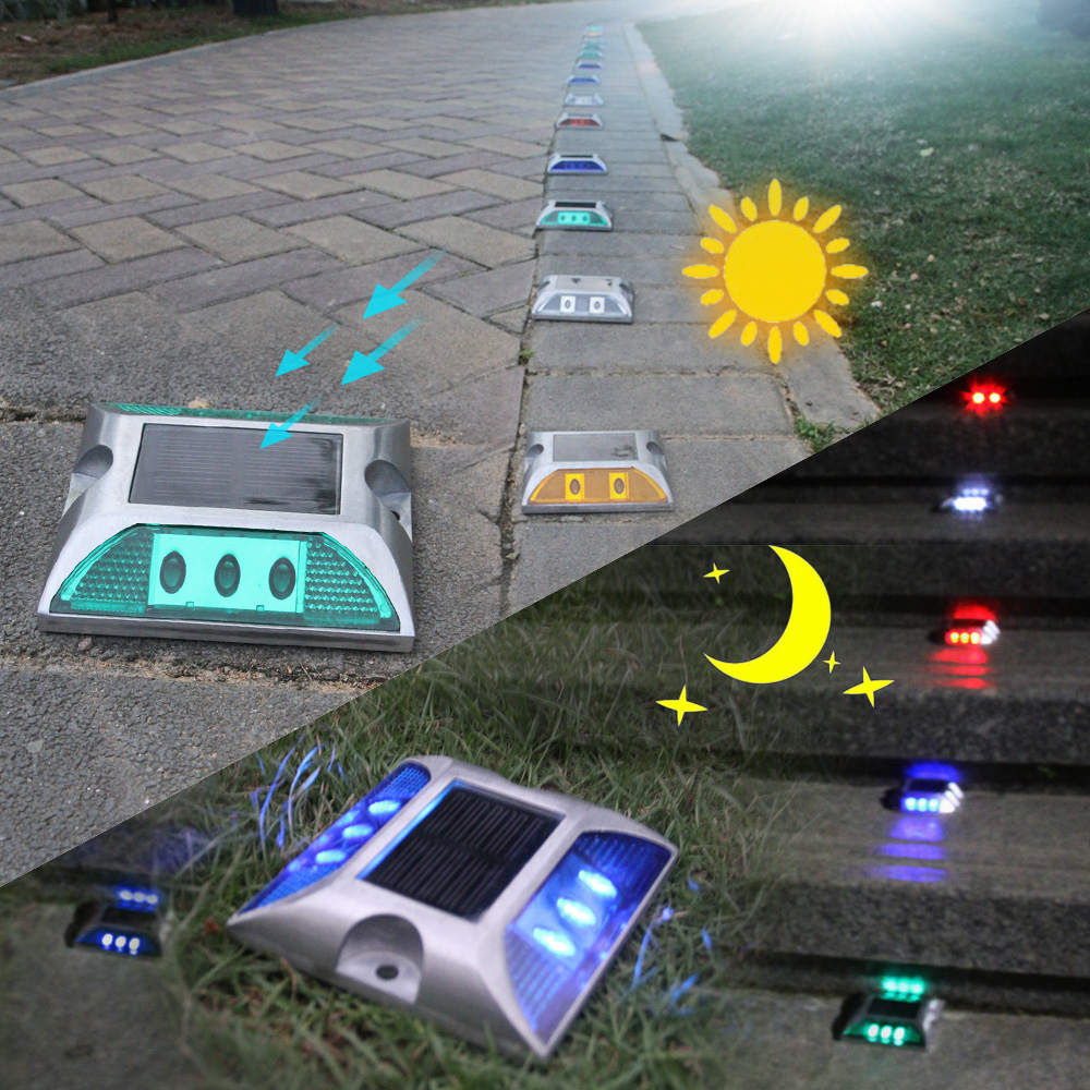 Solar power 6LED Lane Guide Light Outdoor Road Driveway Path Ground Solor Light driveway Warning Lamp t garden street yard Lamp road trip usa eighth edition cross country adventures on america s two lane highways