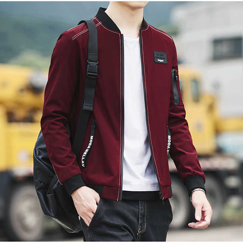 HCXY 2019 новая куртка мужская Осенняя мода бренд Slim Fit пальто мужской бейсбол бомбер куртки мужские пальто большой размер 5XL
