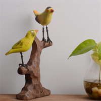 Resin Birds Statue Zakka Furnishing Articles Resin MIni Animal Decor Desktop Arts Ornaments And Crafts Gifts