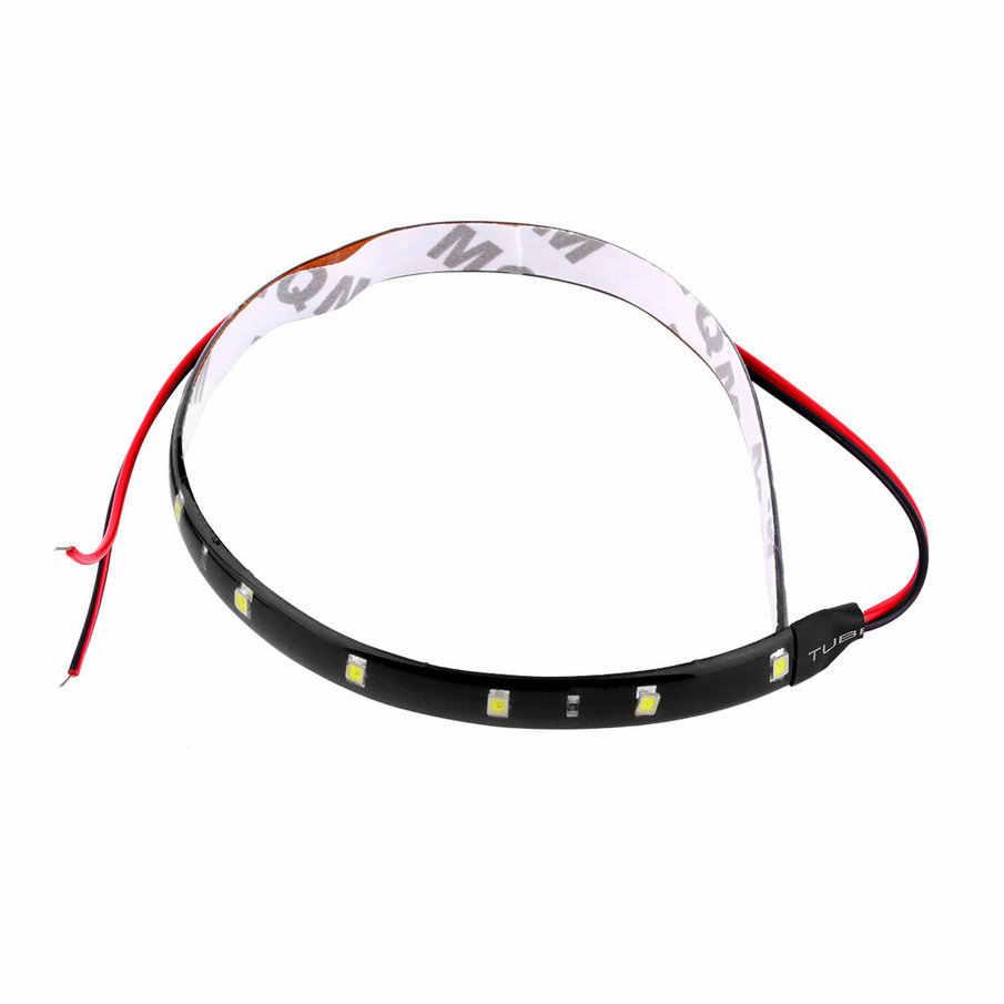 1PCS 30cm 12V 15 LEDs Car  Waterproof Strip Lamp Flexible Light Flexible Vehicle Led Automobiles Stripe Daytime Running Lights