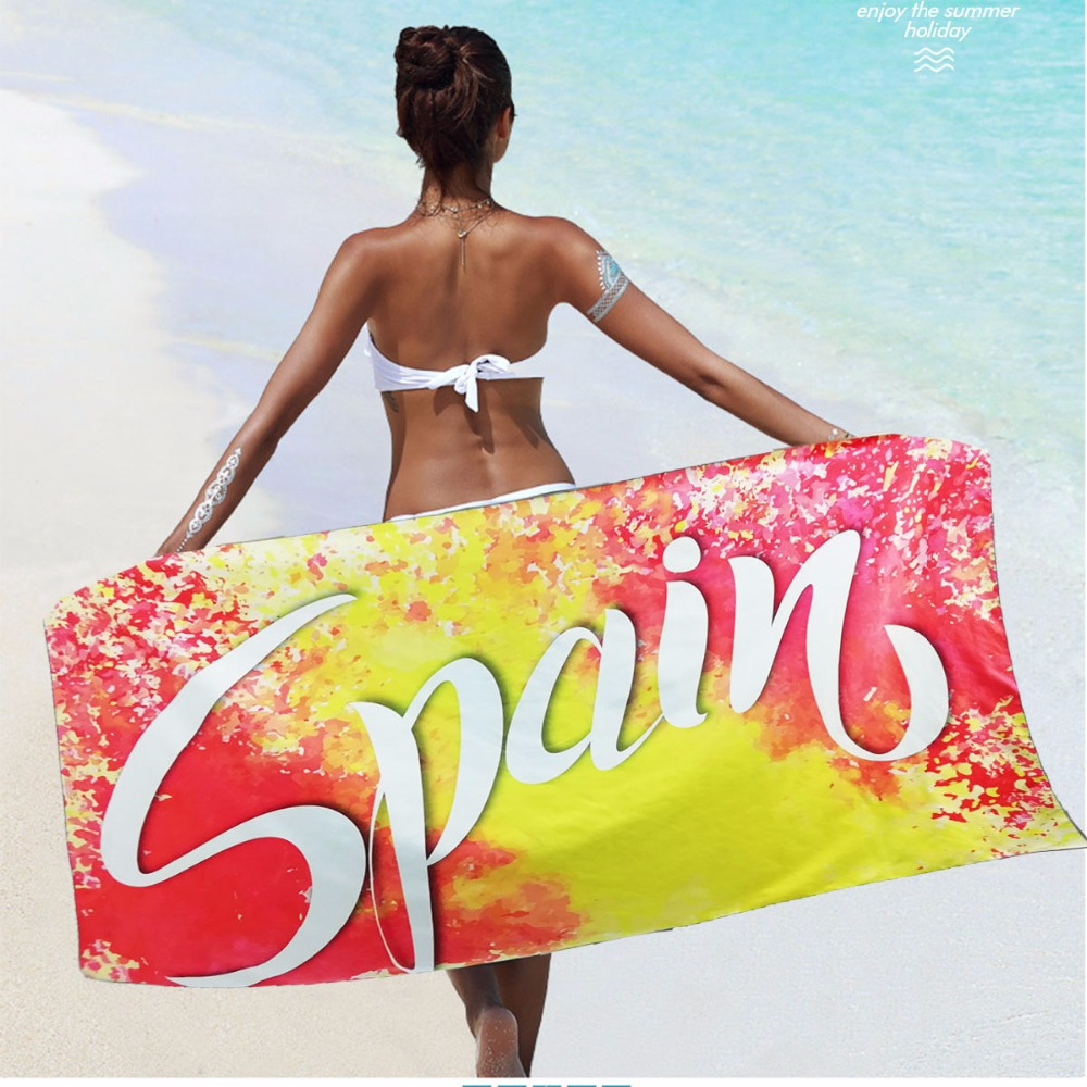 SPAIN National Team Sports Towel National Flag Towel Football Fans Towel Beach Cheering Towel Digital Printing Pareo