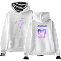 Kpop BTS Pink Hoodies Women men Autumn Plus velvet Winter New BTS album YOURSELF korean Fake two pieces sweatshirts Bangtan Boys
