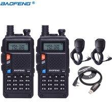2 шт BaoFeng BF-UVB3 плюс Walkie Talkie мощный радиоприемник CB 8 W 10 км Long Range портативной радиостанции для лес и город