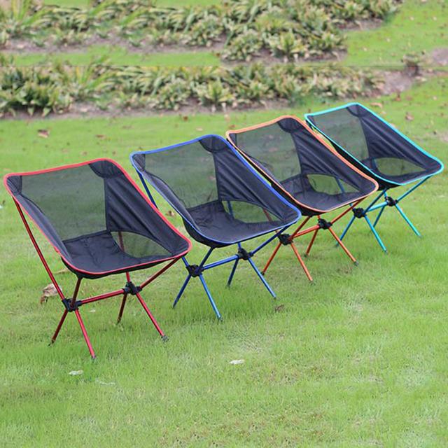 Ultra-luz Portátil Dobrável de Acampamento Ao Ar Livre Respirável Pesca Stool Assento Da Cadeira para Festival Picnic CHURRASCO de Praia com Saco