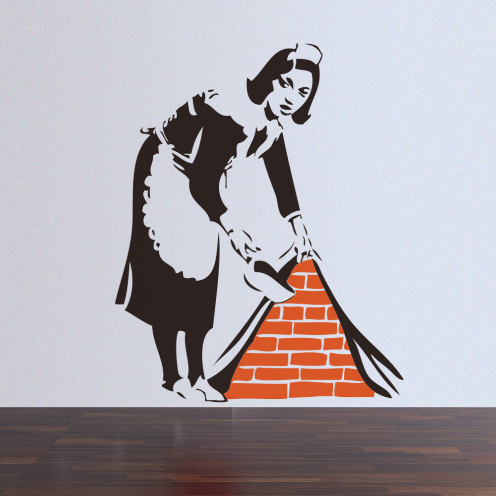 4657cm Banksy Maid In London Wall Sticker Home Art Decor For Home