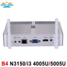 Partaker B4 Intel Quad Core N3150 Dual Core i3 4005U Processor HTPC Mini Pc with HDMI VGA 4K HD 14nm