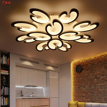 Dimming+Remote control living study room bedroom modern led chandelier white color surface mounted fixtures