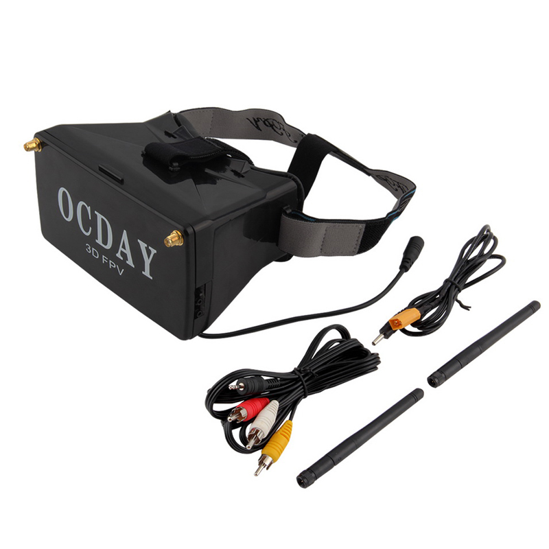 1pcs 5.8G Dual Receiver FPV 3D Video Glasses Viewer Handset Video Virtual Display fpv mini 5 8g 150ch mini fpv receiver uvc video downlink otg vr android phone tablet pc fpv mobile phone display receiver
