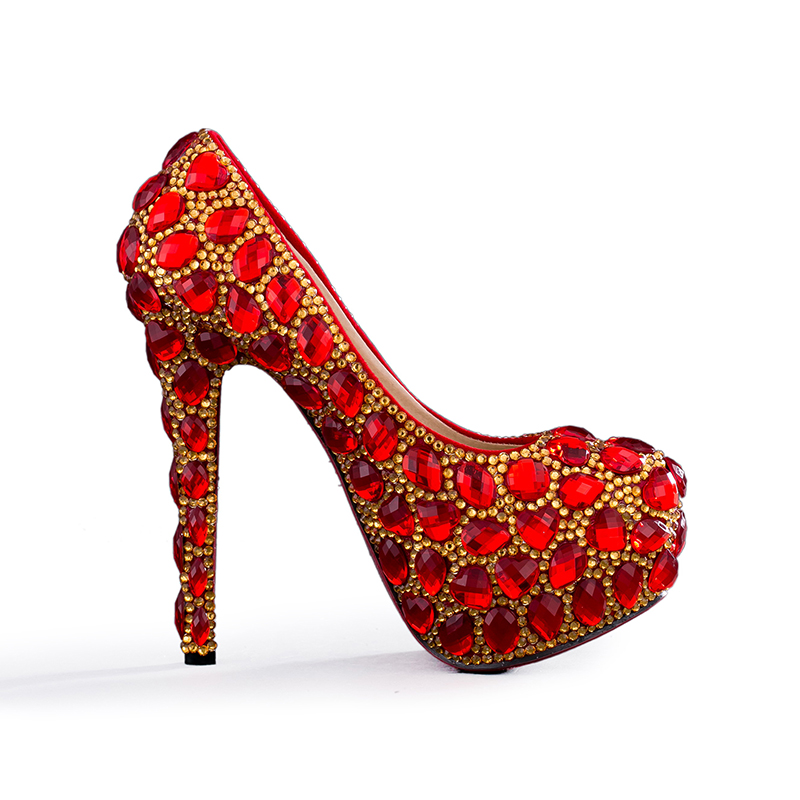 db42390e870d Super high heel prom pumps red with gold crystal marriage jpg 800x800 Prom  red and gold