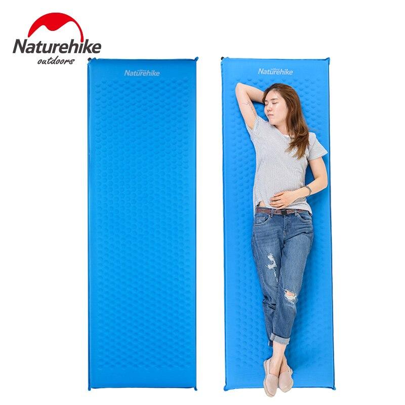 купить Naturehike Self Inflating Camping Mat Automatic Inflatable Mattress Sponge Blow Up Fast Filling Moisture Proof Air Sleeping Pad онлайн