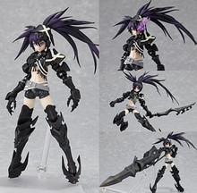 Popular Japanese anime Figma PVC Action Figures Black Rock Shooter Height 15cm Model Toys Black Rock Shooter SP041
