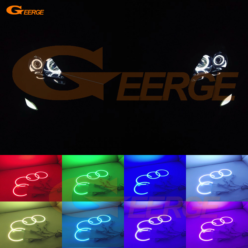 For LEXUS RX300 RX330 RX350 RX400h 2004 2005 2006 2007 2008 Excellent Angel Eyes Multi-Color Ultra bright RGB LED Angel Eyes kit for lexus lx470 2003 2004 2005 2006 2007 excellent multi color ultra bright rgb led angel eyes kit halo rings