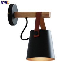 IWHD Nordic Simple Modern Wall Sconce Wrought Iron Belt LED Wall Light Fixtures Aisle Bedside Wall Lamp Home Indoor Lighting