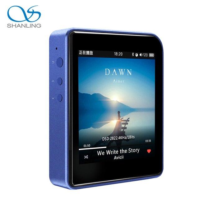 Новый Shanling M1 DAP HiFi MP3 плеера с Bluetooth Особенности мини движение MP3 музыкальный плеер Бесплатная Официальный кожаный чехол