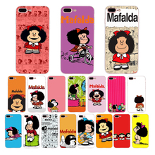 Cartoon Mafalda Silicone fitted Case For iphone cover x xr xs max Coque 7 6s 6 8 plus 5 5s se phone shell lovely Girl Pattern цена и фото