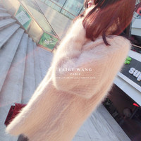 RUGOD High Quality Mink Cashmere Sweater Pullover Turtleneck Long Sleeve Casual Loose Sweater Knitted Tops Women