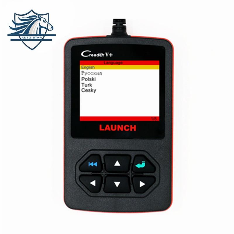 LAUNCH Distributor Original Launch Creader V OBD2 code Reader scanner CReader V Plus OBDII diagnostic