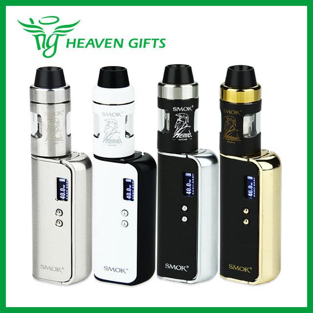 Nueva llegada smok osub osub 40 w tc starter kit con 1350 mah TC Batería MOD y 2 ml Capacidad de Mini Casco Tanque Atomizador E-cigarrillo