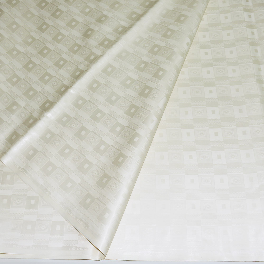 African Style Milk White African Bazin Riche Getzner Fabric Guinea Brocade Damask Shadda Lace Fabrics for Men Cloth in 5 YardsAfrican Style Milk White African Bazin Riche Getzner Fabric Guinea Brocade Damask Shadda Lace Fabrics for Men Cloth in 5 Yards