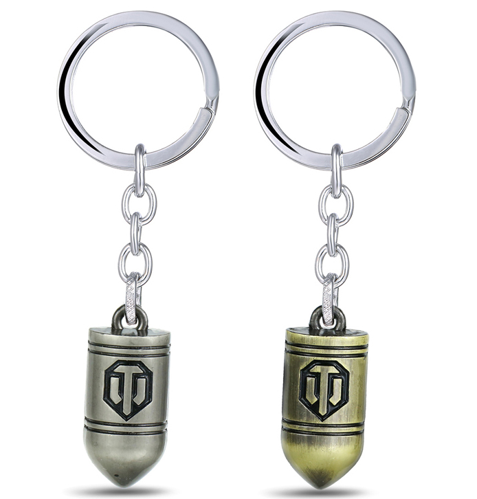 MS JEWELS Game Gifts For Fans World of Tanks Keychain Metal Key Rings For Gift Chaveiro Key Chain 2 Colors