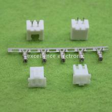 20 компл./лот 2 контактный разъем провода Заголовок 2,54 мм XH-2P комплект Корпус штыревой разъем терминал