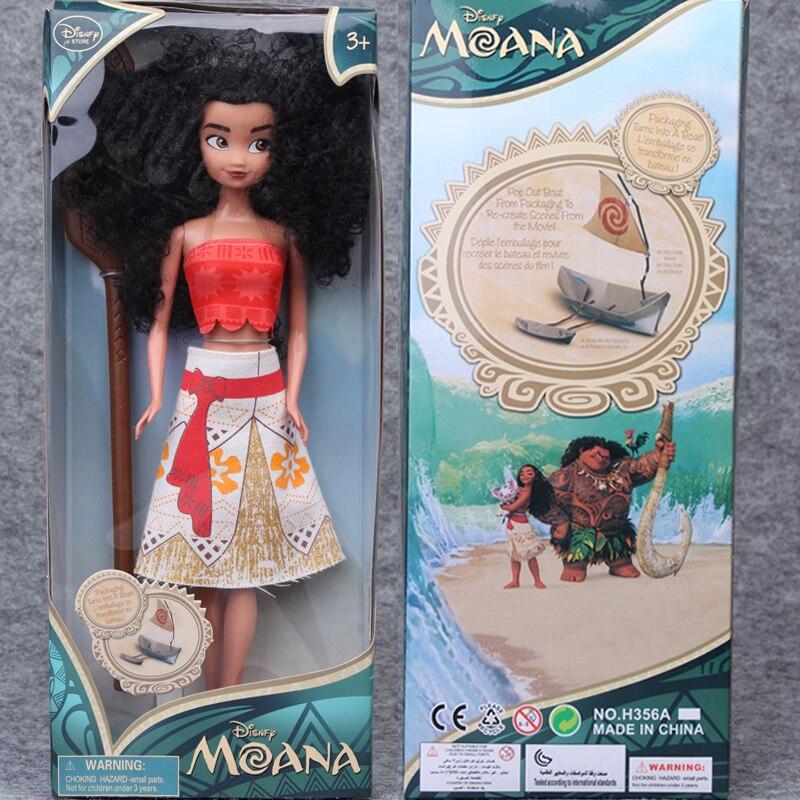 2017Moana Princess Action Figures Vaiana Doll maui Toys  Moana Princess Plastic Doll Gift for Girls High Quality children gift