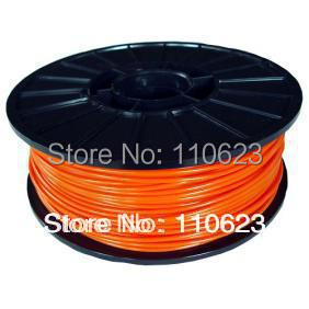 Orange 3d printer filaments ABS/PLA 1.75mm/3mm Plastic Rubber Consumables Material MakerBot/RepRap/UP/Mendel 1KG