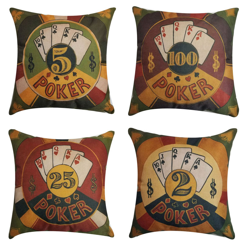 Orange Elephant Poker Decorations Throw Pillow Cushion Cover Housse De Coussin Square Accent Pillow Case