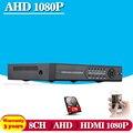 2016Hot,Multifunctional 8CH AHD 720P 1080N Hybrid DVR/1080P NVR Video Recorder AHD DVR For AHD/Analog Camera IP Camera 1TB HDD