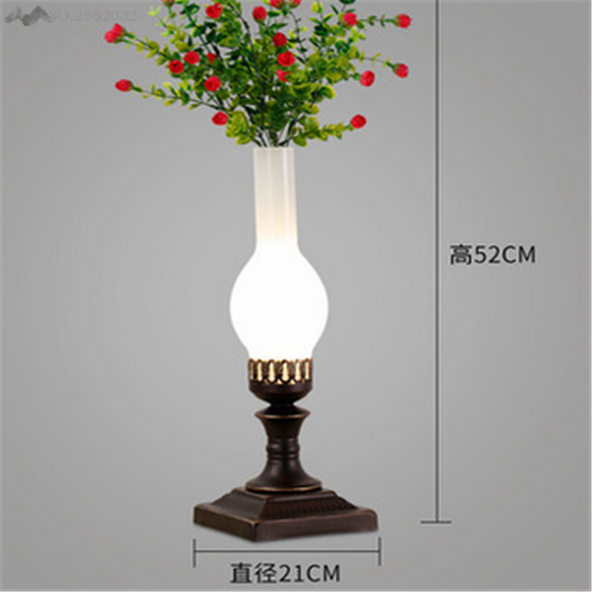 LFH 2017 New creative personality art American style retro glass vase table lamp bedroom cafe bar dining room decoration fixtureLFH 2017 New creative personality art American style retro glass vase table lamp bedroom cafe bar dining room decoration fixture