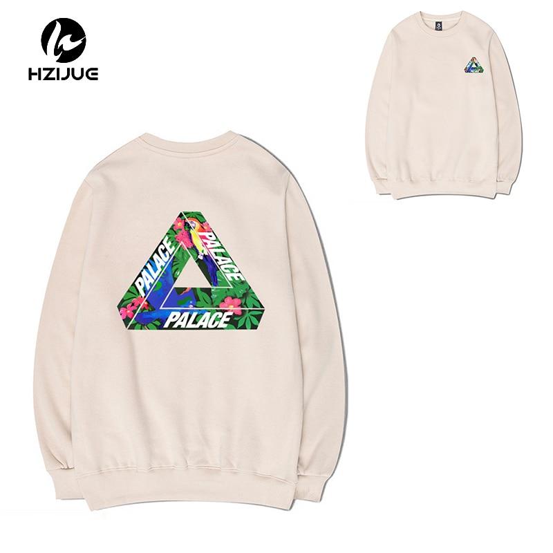 HZIJUE 2017Hip Hop Flower Printed Hoodies 2017 New High Quality Mens Fashion Sweatshirts Kanye Harajuku Men
