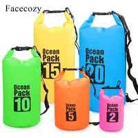 Facecozy Swimming River Trekking Dry Bags Waterproof PVC Ocean Pack 2L-30L Multifunctional Outdoor Drifting Beach Backpack