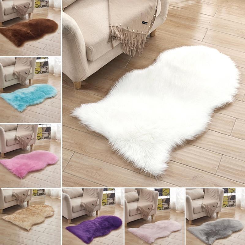 Faux Fur Rug For Sofa Hairy Carpet Artificial Wool