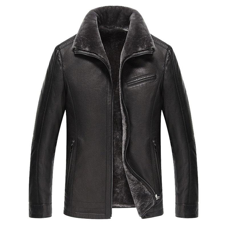 AYUNSUE Men s Genuine Leather Jacket Real Cow Leather Plus Size Cowhide Jackets for Men Natural AYUNSUE Men's Genuine Leather Jacket Real Cow Leather Plus Size Cowhide Jackets for Men Natural Lamb Fur Coat L178101 KJ841