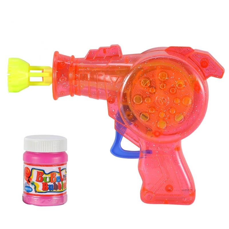 1pcs Lovely Cartoon Animal Soap Water Bubble Gun For Kid Outdoor Toys Children Blowing Bubbles Toy Manual Bubble Gun Blower